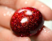 Jewelry - Ring - Candy Apple Red Glitter Resin Jewelry - An Adjustable Modern Dome Fashion Statement Ring... handcrafted by isewcute