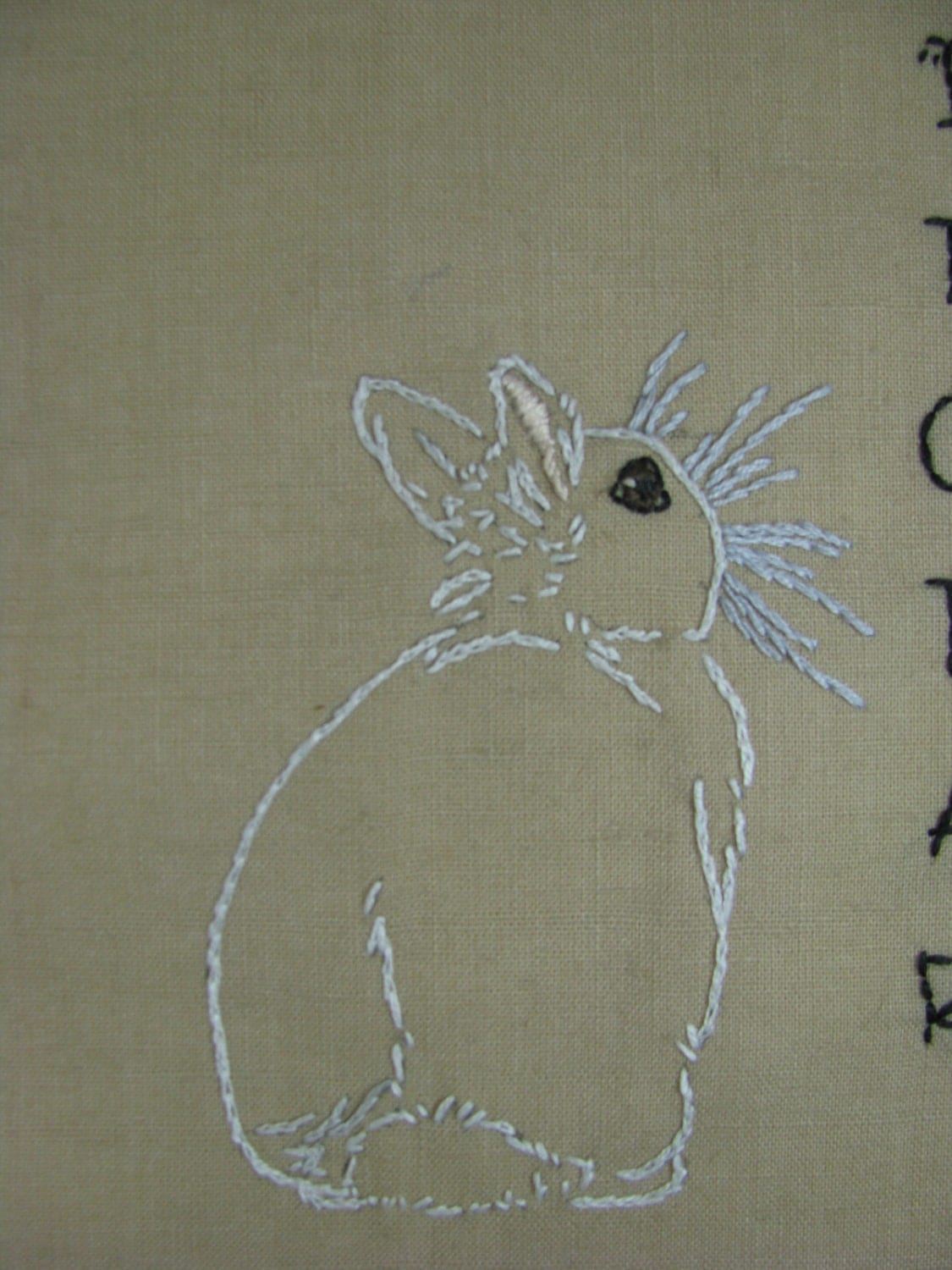 Bunny rabbit hand embroidery patterns two adorable by isewcute