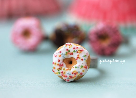 Donut Ring - Food Jewelry - Donut Collection