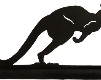 Kangaroo On The Hop Handmade Wood Silhouette Decoration  sawa007