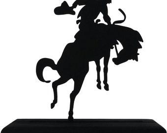 Bucking Bronco Handmade Display Wood Silhouette Decoration  swst007