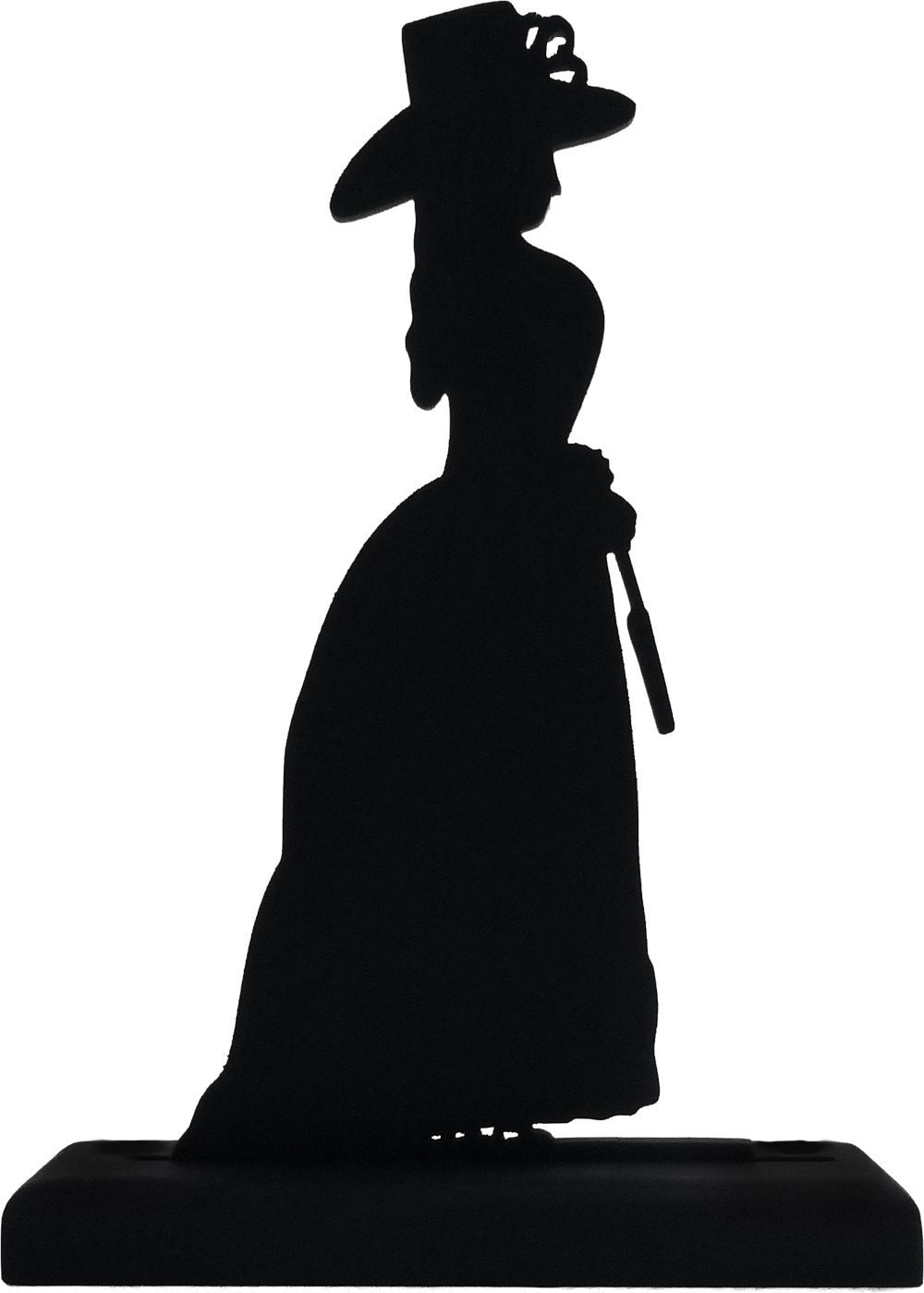 Victorian Lady Handmade Wood Display Silhouettes.Decoration
