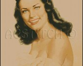 Vintage WOMAN PORTRAIT  cross stitch pattern No.324