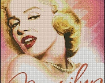 MARILYN MONROE cross stitch pattern No.179