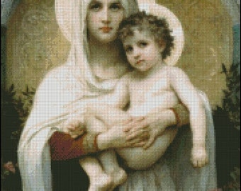 MADONNA Of THE ROSES  cross stitch pattern No.492