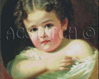 LITTLE GIRL cross stitch pattern No.230