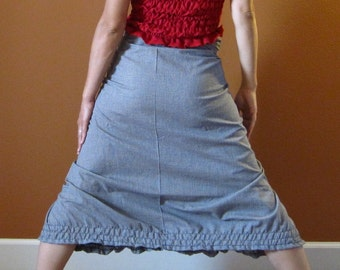 check print ruffle gopher wrap pants custom order listing