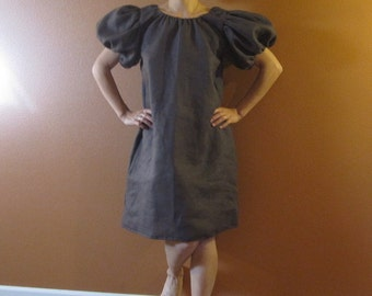 custom linen puffy sleeve tunic dress made to fit listing