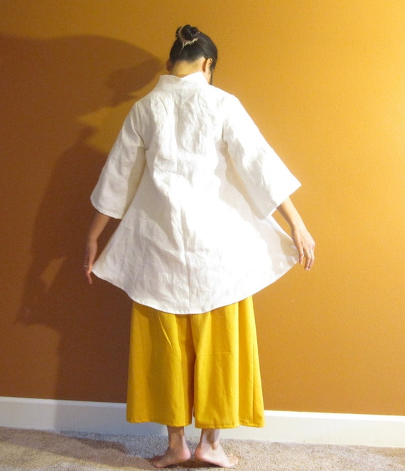 eco linen blouse size XS to 5 XL and up