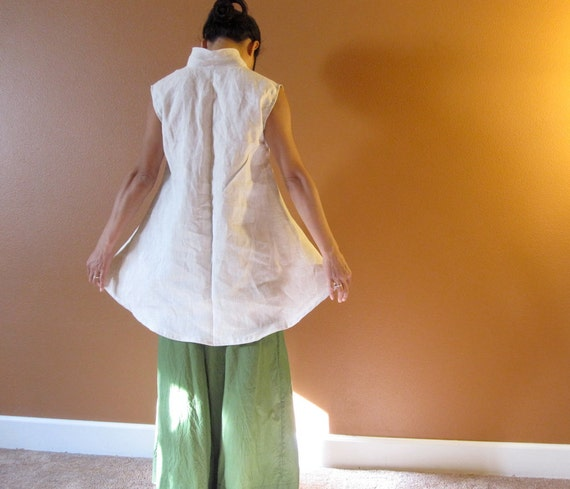 Pure linen simplicity wavy top  custom order listing