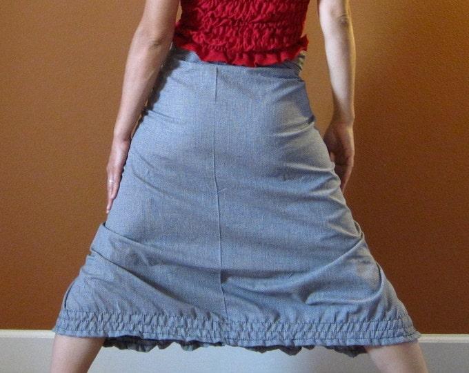 check print ruffle gopher wrap pants custom order listing / soft cotton plaid wrap style skirt like wrap pants / bloomers / wrap style /