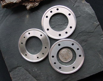 Steampunk Jewelry Supplies Recycled Computer Aluminum Discs RC-03.  45mm.
