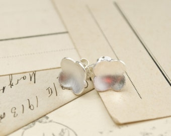 SALE- Morocco 2: sterling silver four leaf clover - stud earrings
