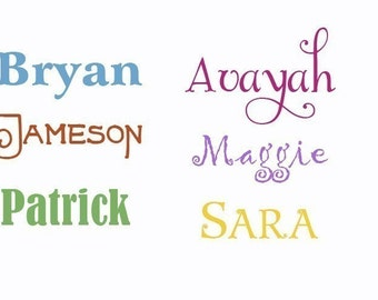 Custom Name Wall Decals, Monogram Vinyl Decals, Name Decals, Monogram Decal, Kids Monogram, Wall decals for kids, Custom name stickers