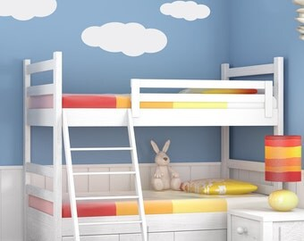 Cloud Self Adhesive Vinyl Decals, Childrens bedroom nursery or ceiling decals, Weather decor for classroom teacher, Clouds