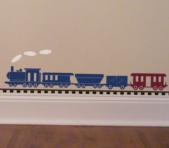 Train Wall Decor train wall decal baby boy wall decal locomotive decor