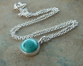 Turquoise necklace, bridesmaid necklace, turquoise silver necklace, gift for her, turquoise and silver, silver  necklace, weddings