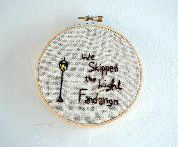 We Skipped the Light Fandango. Whiter Shade of Pale embroidery