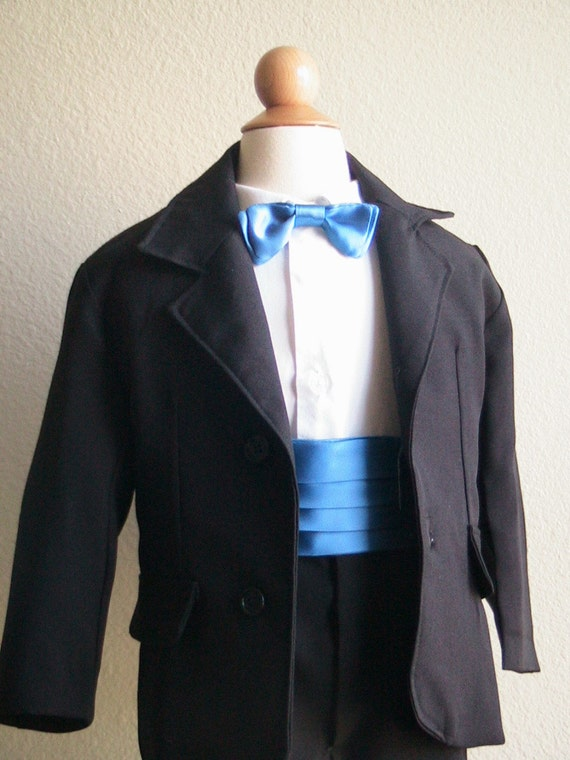 Boys Custom Order Ring Bearer Bow Tie Cummerbund Combo
