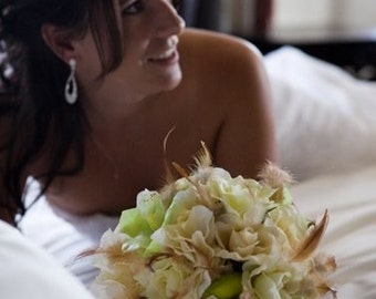 VENUS Wedding Bouquet With Feather Accents