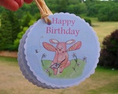Birthday Gift Tags - Printed on Recycled Card- Illustration by Giulia Mauri