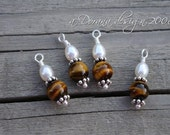 Snow in the Desert - Genuine Freshwater Pearls Tiger Eye Bali Sterling Silver - myDesign INTERCHANGEABLE Charms - Handmade by Dorana