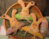 EPATTERN -- Primitive Pastel Bunny Tucks Bowl Fillers Ornies