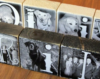 Man's BEST Friend- Personalized Photo Letter Blocks for PET lovers- per block price