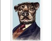 Sir Arthur Canine Doyle signed print
