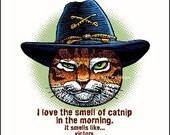 """Smell of Catnip- 8"""" x 10""""- Cat Art Print- Cat Wall Decor- Cat Wall Art- Cat Print- Cat Gift"""