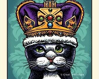 Tuxedo Cat Queen
