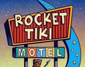 Rocket Tiki Googie Sign