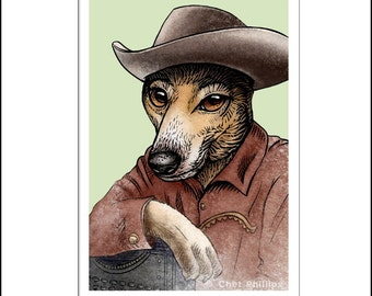 Zane Greyhound signed print