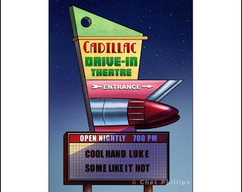 Cadillac Drive-In- Googie Sign