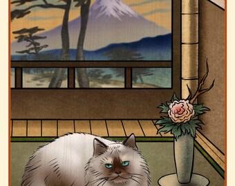 Persian Japanese Styled Print