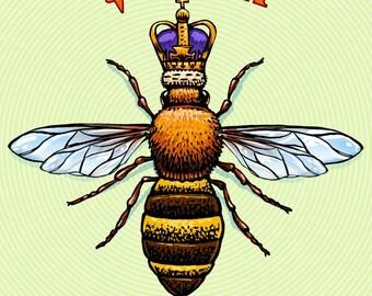 "Queen Bee- 8"" x 10"" Bee Wall Decor"