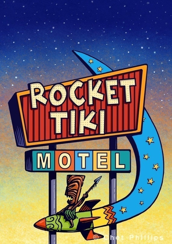 Rocket Tiki Googie Sign