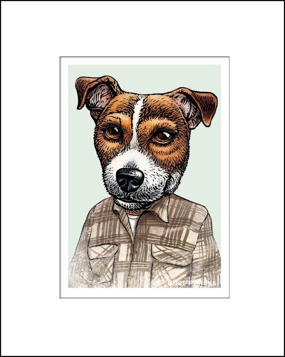 Jack Russell Kerouac signed print