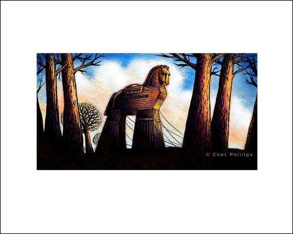 "The Trojan Horse- 8"" x 10"" Art Print"