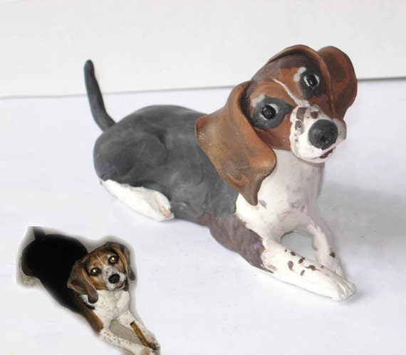 Clay Portraits of Pets: Personlized look-alike figurines, Made to Order