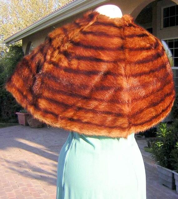 Vintage 30s 40s Fur Stole Wrap Marta Cibelina - Fabulous Color & Mink Stole Shawl