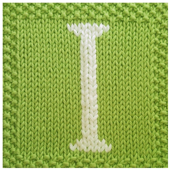 Knitting Letters Into Squares : Pdf knitting pattern capital letter i afghan by fionakelly