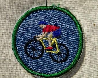 Bicycle Iron-on Patch / Merit Badge