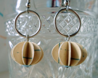 Upcycled Paper Earrings Lined School Paper