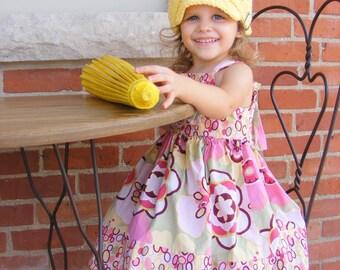 Toddler Girl Newsboy Cap Toddler Newsboy Hat Toddler Girl Hat Yellow Toddler Hat 1T to 2T Crochet Newsboy Knit Buckle Toddler Girl Clothes