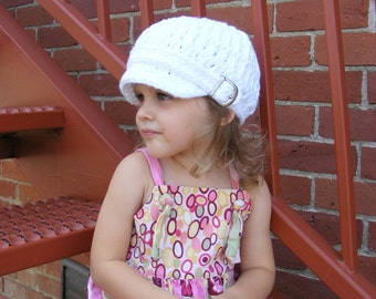 Toddler Newsboy 1T to 2T Toddler Hat Toddler Girl Newsboy Hat Toddler Boy Newsboy Cap White Toddler Girl Hat Toddler Boy Hat Crochet Newsboy