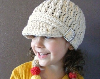 Kids Hat 4T Toddler Girl Hat Toddler Boy Hat Children's Hat Crochet Hat Knit Buckle Beanie Ecru Winter Hat Toddler Clothes Toddle Clothing