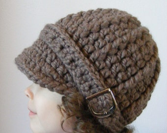 Toddler Hat 2T to 4T Toddler Girl Hat Toddler Boy Hat Toddler Girl Clothes Toddler Boy Clothes Taupe Light Brown Winter Hat Buckle Beanie