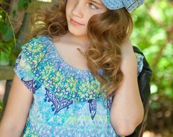Toddler Newsboy Cap 2T to 4T Toddler Girl Newsboy Hat Toddler Boy Newsboy Light Blue Toddler Hat Toddler Girl Hat Toddler Boy Hat Buckle