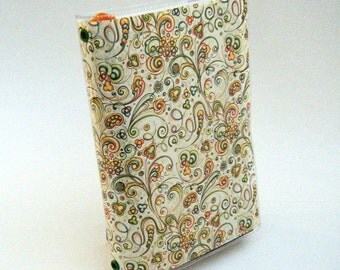 Paperback Book Cover - Reusable, Protective and Adjustable - Small Mass Market Size - Stylish Book Cover with Colorful Swirls Design